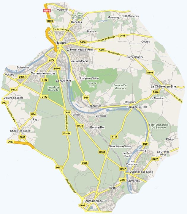 plan de situation du Parc de Livry (-sur-Seine)