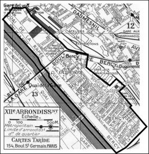 Plan de l'ancien village de Bercy