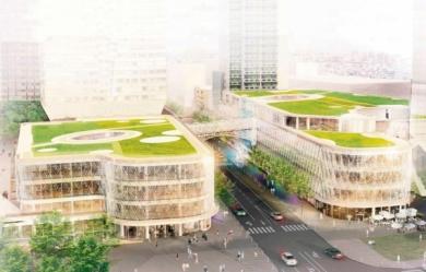 Le toit v g talis du centre commercial beaugrenelle la plus vaste toiture - Toiture vegetalisee paris ...